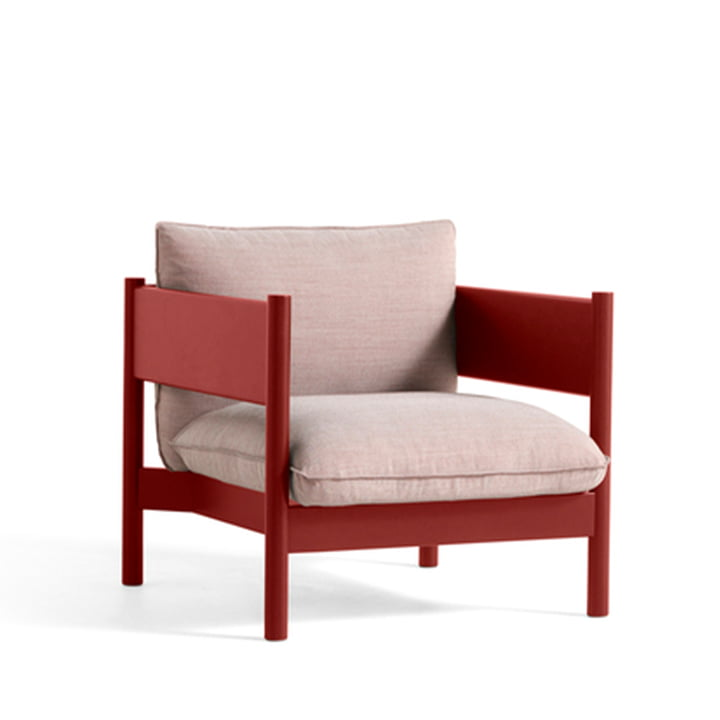 Arbour Club Armchair by Hay in the colour Atlas 621 / wine red