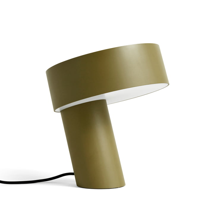 Slant Table lamp by Hay in 28 cm in the colour khaki