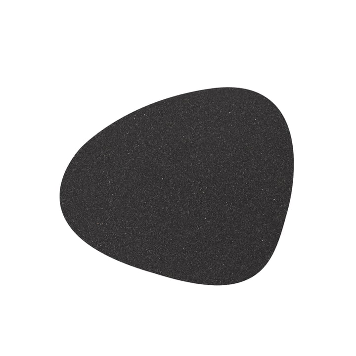 Glass coaster Curve, Core mottled anthracite from LindDNA