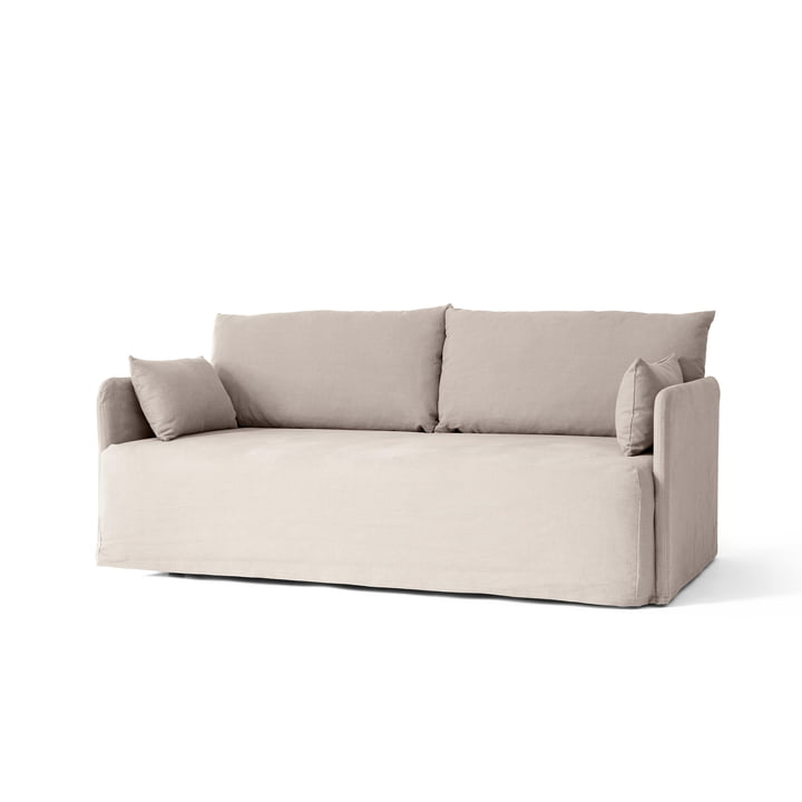 Offset 2-seater sofa with removable cover, Cotlin oat by Menu