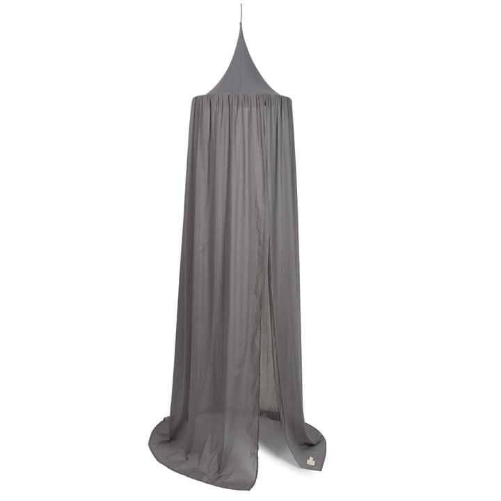 Vera Canopy bed, 250 x 50 cm by Nobodinoz in slate grey