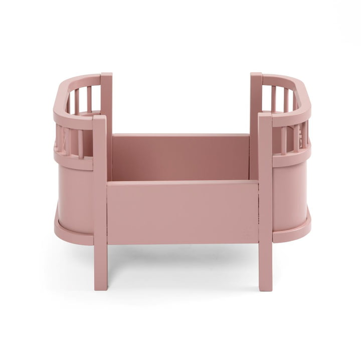 Dolls bed without side rail from Sebra in blossom pink