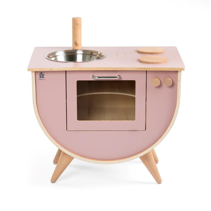 Kids play kitchen from Sebra in blossom pink