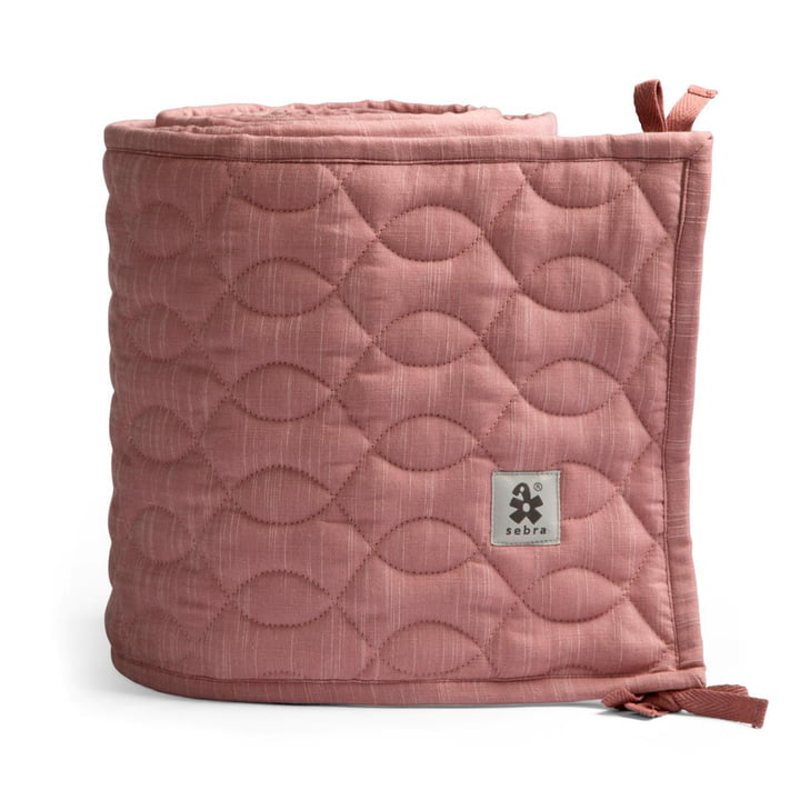 Baby bed nest from Sebra in quilted / blossom pink