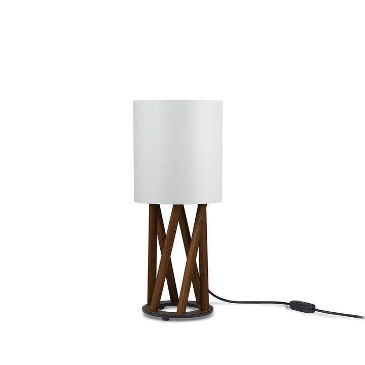 LINN LITTLE OBLIQUE Table lamp from Maigrau in smoked oak, white