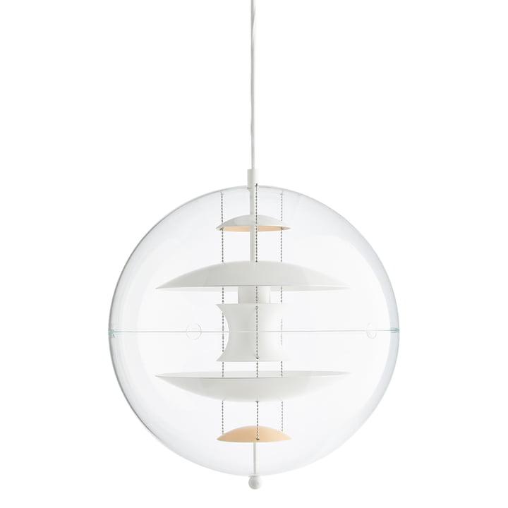VP Globe Pendant lamp Ø 40 cm by Verpan in warm peach / white / clear