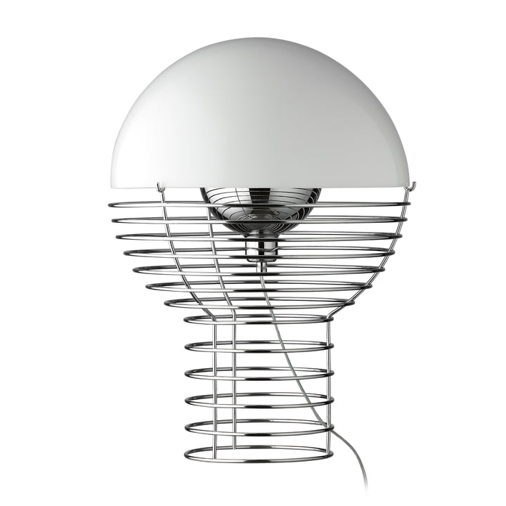 Wire table lamp Ø 40 cm, white by Verpan