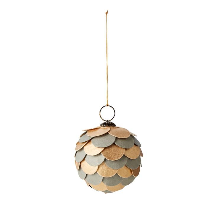Katran Christmas ball, Ø 8 cm, green / gold by philippi