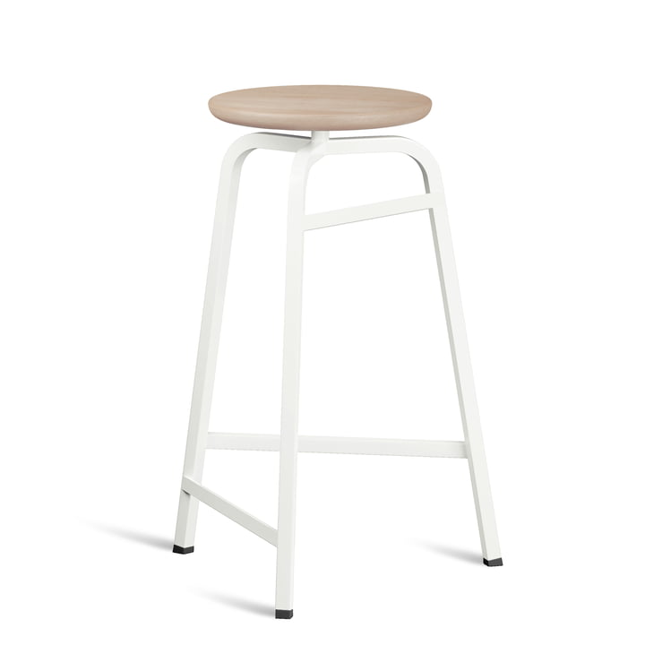 Treble Bar stool from Northern in white / oiled oak finish