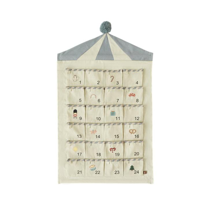 OYOY - Circus Advent calendar, beige / blue