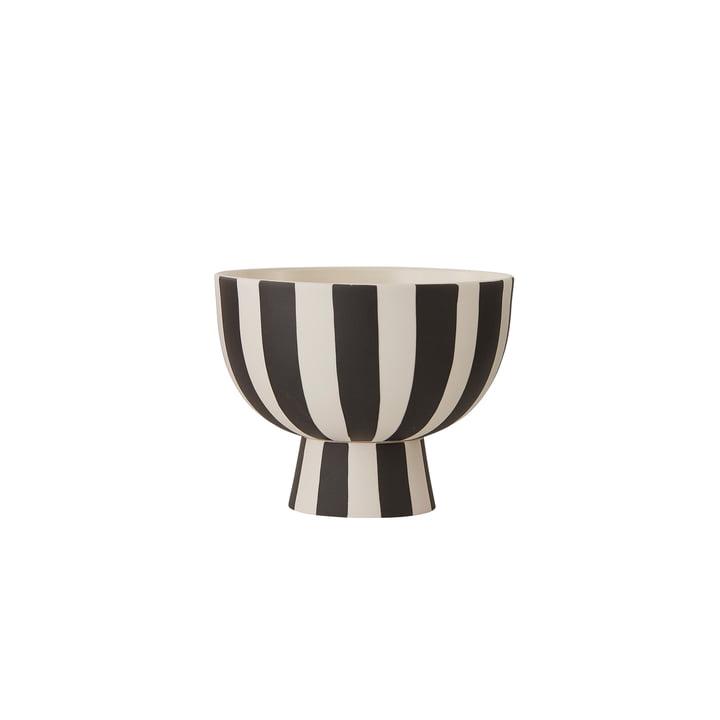 Toppu Bowl Ø 12,6 x H 10 cm from OYOY in white / black