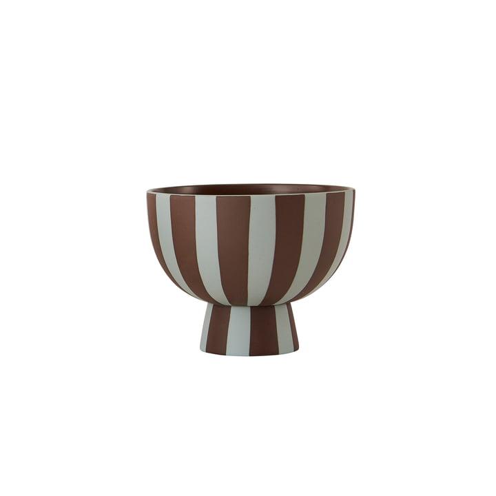 Toppu Bowl Ø 12,6 x H 10 cm from OYOY in dusty blue / choko