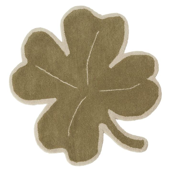 Lucky Clover Kids carpet from OYOY in green
