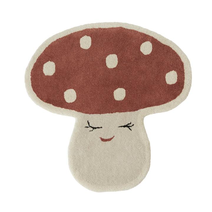 Malle Mushroom Children's carpet from OYOY in red
