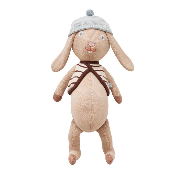 Jojo bunny cuddly toy from OYOY in khaki