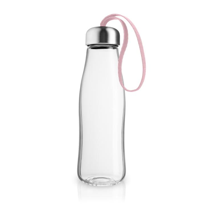 Glass drinking bottle 0,5 l from Eva Solo in rose quartz