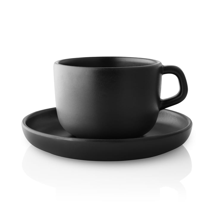 Nordic Kitchen Cup with saucer from Eva Solo in black