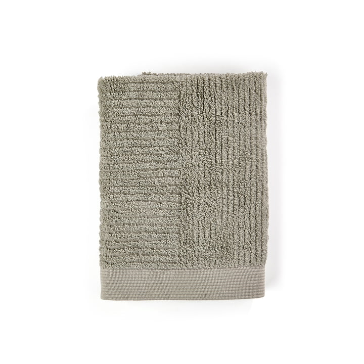 The Classic Guest towel from Zone Denmark , 50 x 70 cm, eucalyptus green