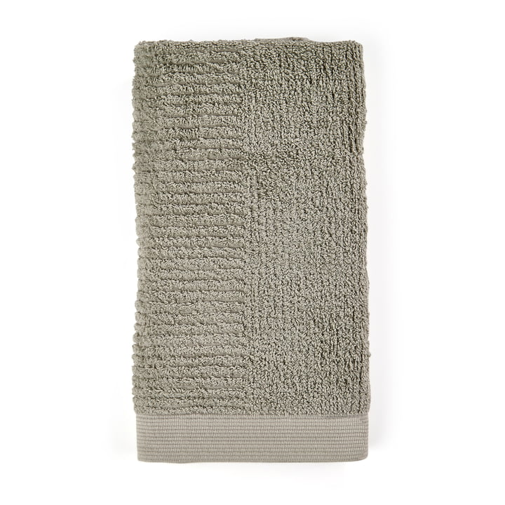 The Classic Towel from Zone Denmark , 50 x 100 cm, eucalyptus green