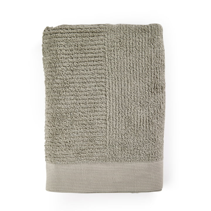 The Classic Bath towel from Zone Denmark , 70 x 140 cm, eucalyptus green