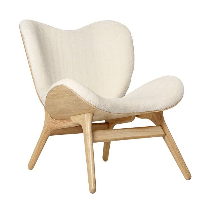 Umage - A Conversation Piece Armchair, natural oak / teddy white