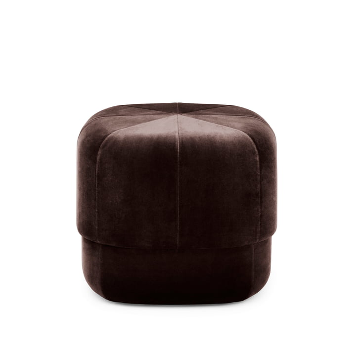 Circus Pouf small from Normann Copenhagen in coffee velour