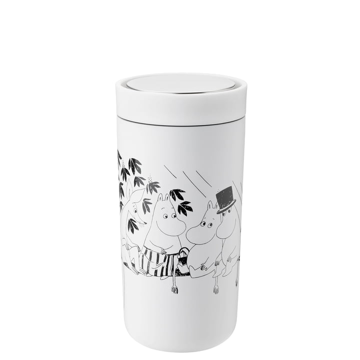 To Go Click Moomin 0,4 l, double-walled from Stelton , soft white / black