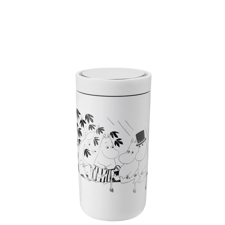 To Go Click Moomin 0,2 l, double-walled from Stelton , soft white / black