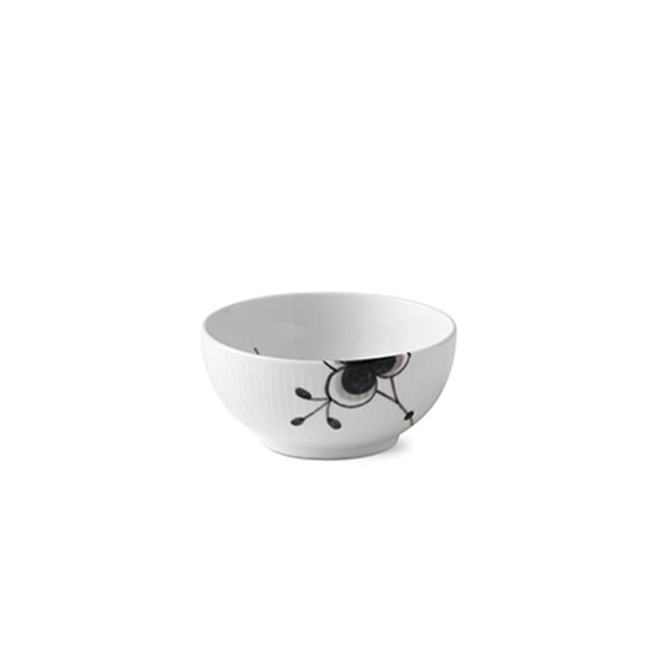 Mega Black ribbed bowl Ø 13 cm from Royal Copenhagen