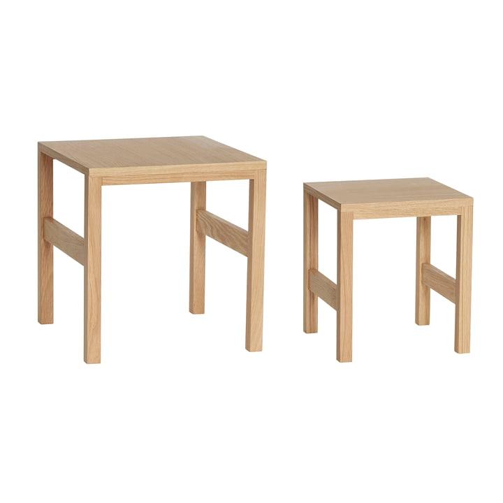 Side table set of 2, oak from Hübsch Interior
