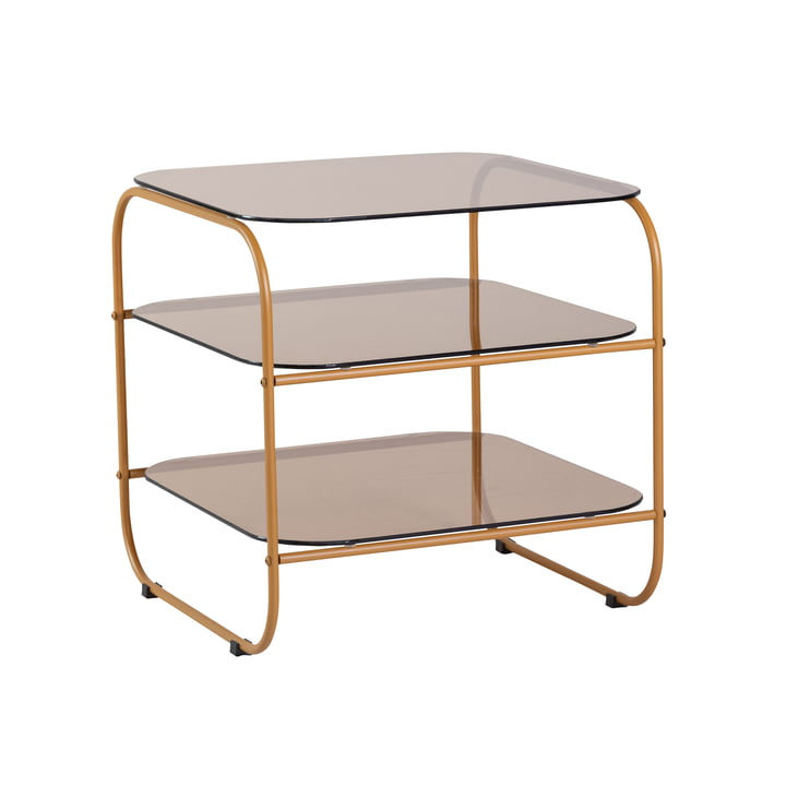 Side table with 3 levels, orange / amber by Hübsch Interior