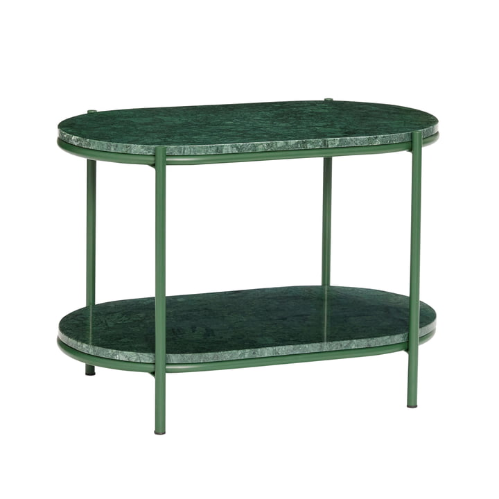 Marble side table, green from Hübsch Interior