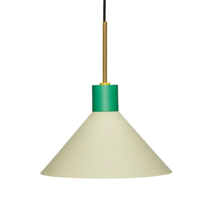 Metal pendant light from Hübsch Interior in green / brown