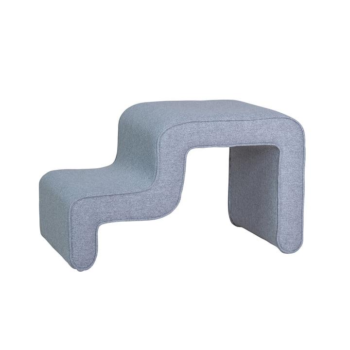 Step pouf, grey from Hübsch Interior