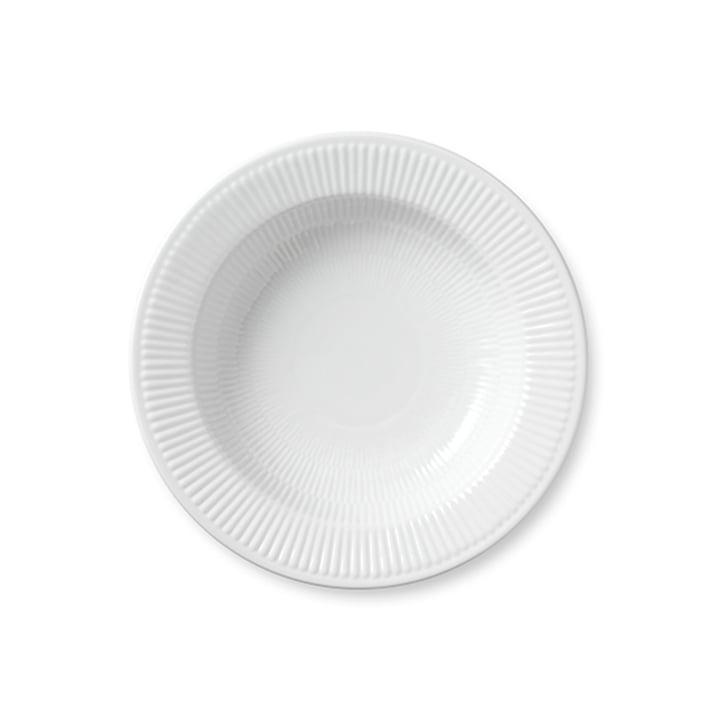 White ribbed soup plate deep Ø 30 cm by Royal Copenhagen