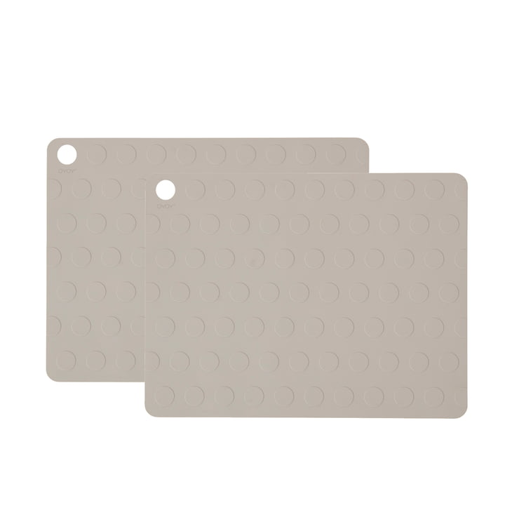 Dotto Placemats from OYOY 34 x 45 cm, grey (2 pcs.)