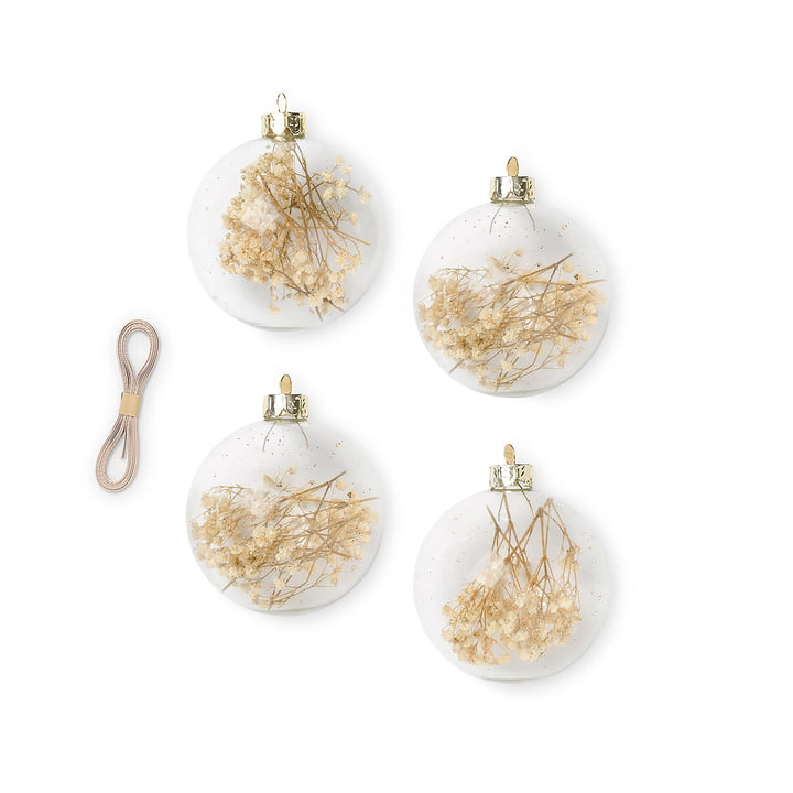 Flora Christmas tree ball by ferm Living in the colour off-white