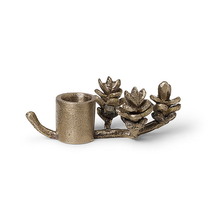 Brass branch candle holder by ferm Living