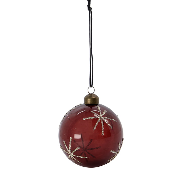 Glas Star Christmas tree ball from House Doctor in the color bordeaux