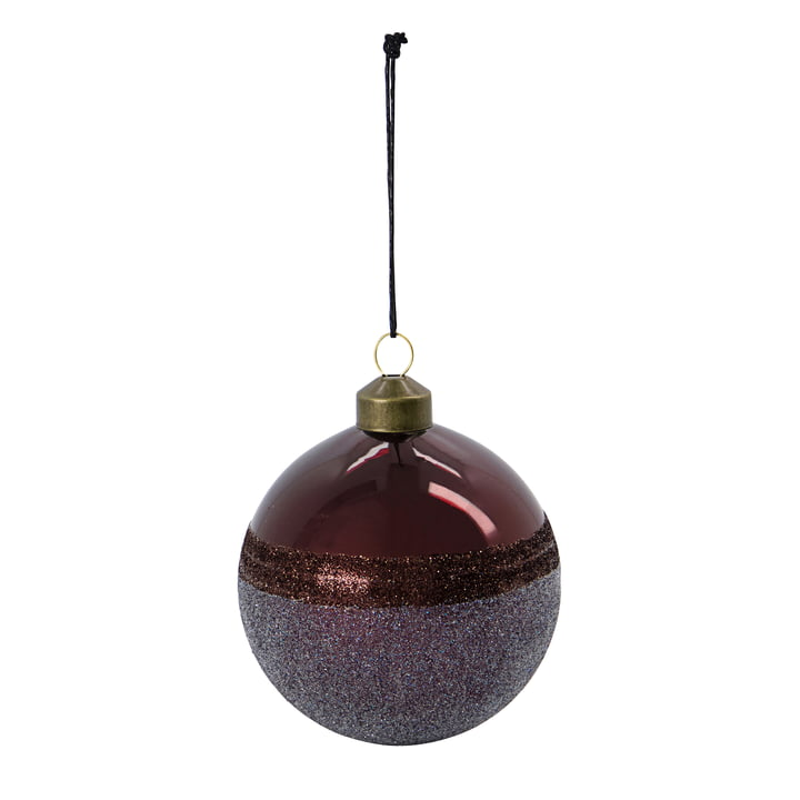 Stripe Christmas tree ball from House Doctor in the color bordeaux