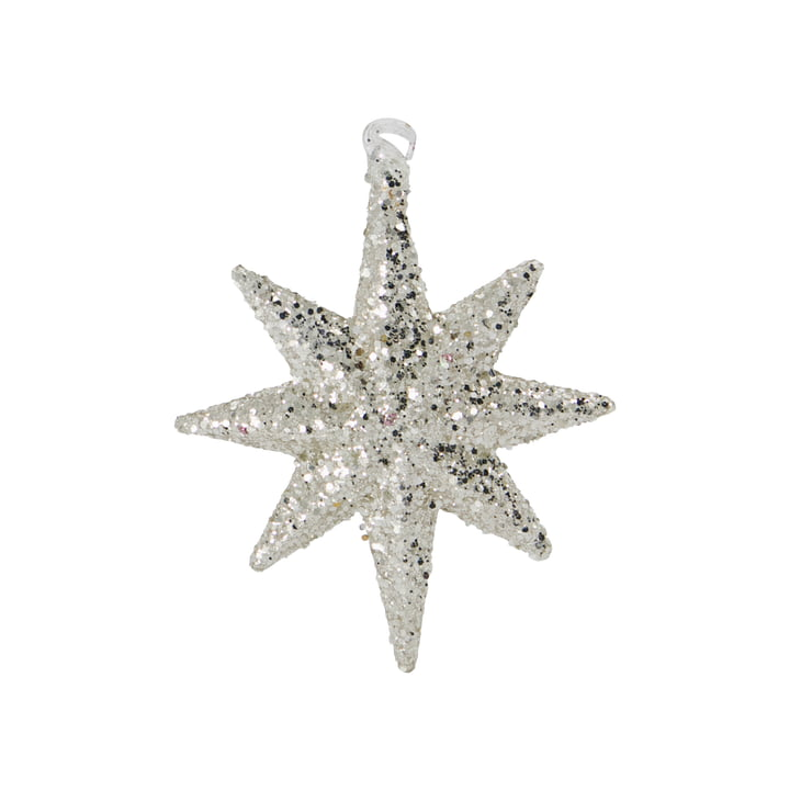 Chunky Decorative pendant star from House Doctor in color silver