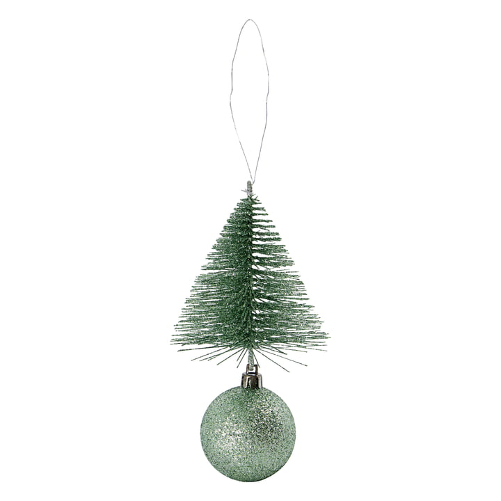 Christmas tree decoration tree & ball from House Doctor in color dusty green