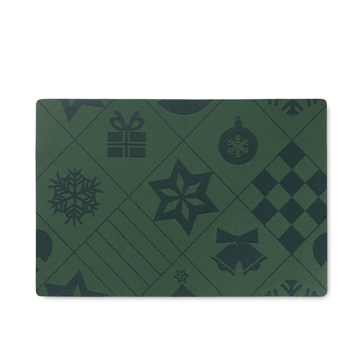 Natale Placemat from Rosendahl in color green