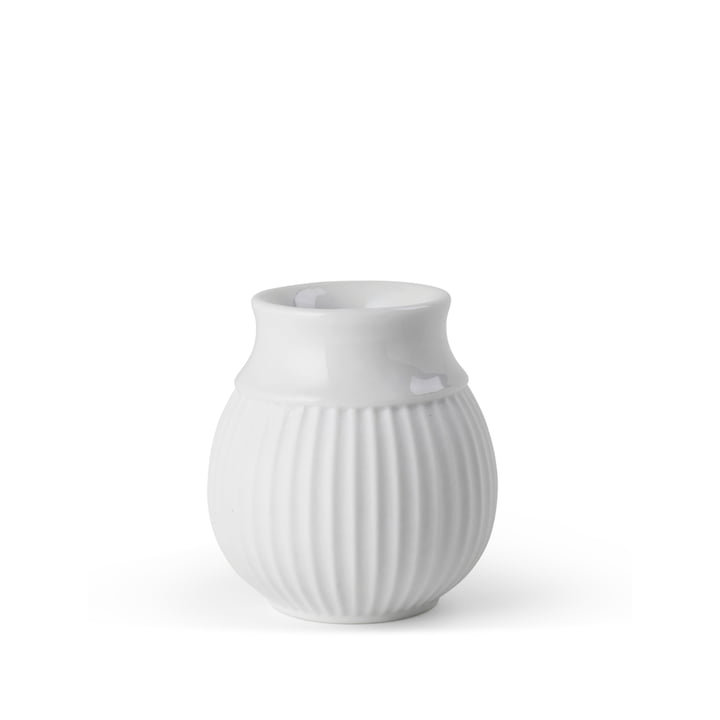 Curve Candle holder H 7 cm, white from Lyngby Porcelæn
