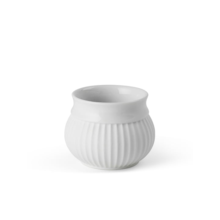 Curve Tealight holder Ø 6. 5 cm, white from Lyngby Porcelæn