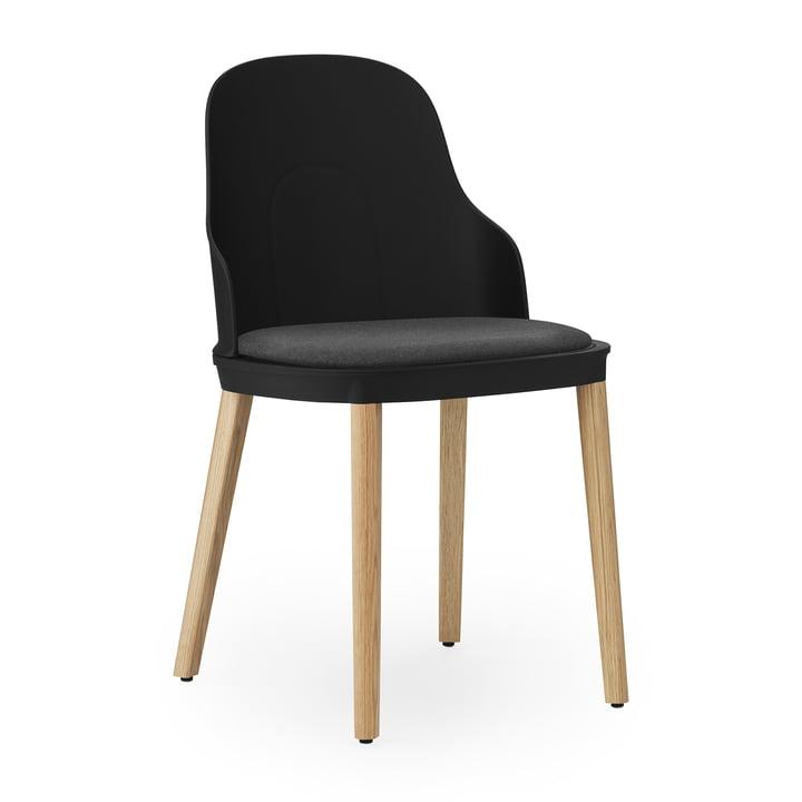 Allez chair oak upholstered from Normann Copenhagen in canvas / black