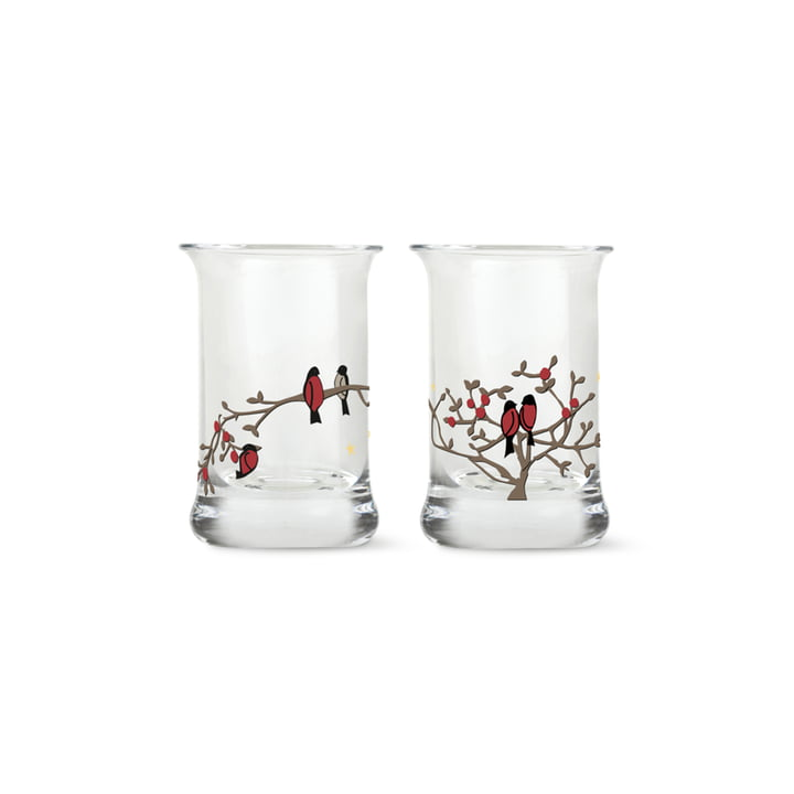 Christmas shot glass set of 2 from Holmegaard