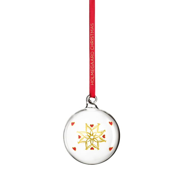 Christmas bauble 2021 from Holmegaard in clear