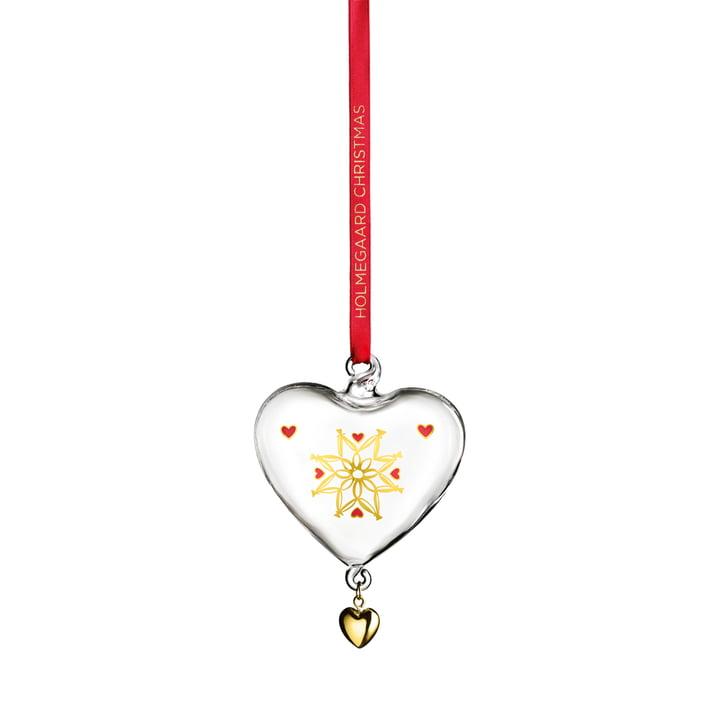 Christmas heart 2021 from Holmegaard in clear