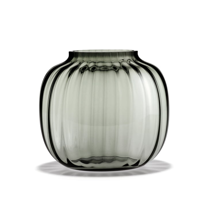 Primula Vase oval from Holmegaard in the color smoke